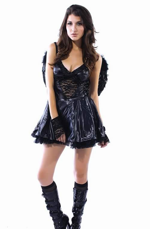 Women Fallen Angel Dress Costume for Halloween Cosplay