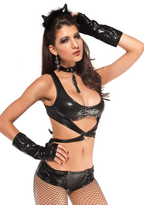 Best Dark Cat Costume Animal Cosplay Set