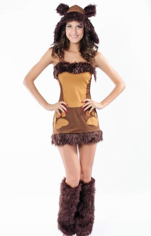 Cosplay Animal Brown Bear Costumes for Women