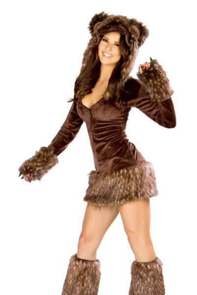 Girlish Cosplay Cute Animal Raccoon Costume in Brown