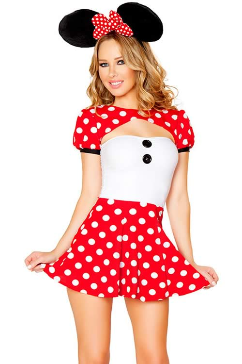 Limited Edition Polka Dot Mouse Costume for Women