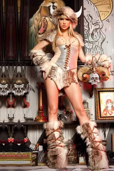sc 1 st  V17 Cheap Menu0027Shoes Womenu0027s Shoes and so on & Deluxe Women Halloween Viking Costume Animal Cosplay Set