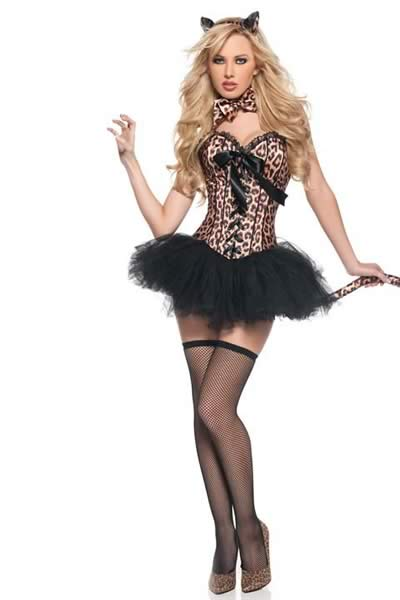 Deluxe Halloween Women Leopard Costume