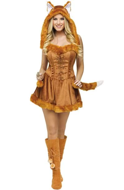 Brown Fox Costume Halloween Dress for Women