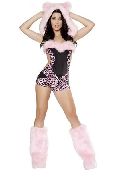 Exclusive Leopard Halloween Costume in Pink