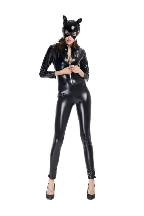 sc 1 st  V17 Cheap Menu0027Shoes Womenu0027s Shoes and so on & Wet Look Black Cat Halloween Costume for Women