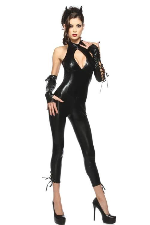Halloween Black Wildcat Costume for Women