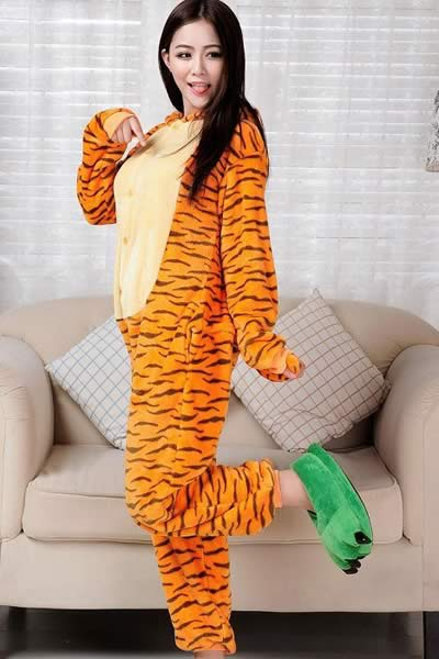Cosplay Animal Happy Tiger Onesies Pajamas