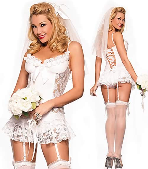 Cosplay Naughty Nuptials Bride Costume