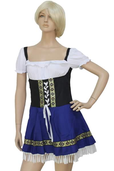 Halloween Pretty Serving Wench Girl Costume