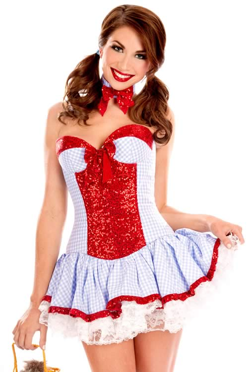 Halloween Sweet Sequined Country Girl Costume