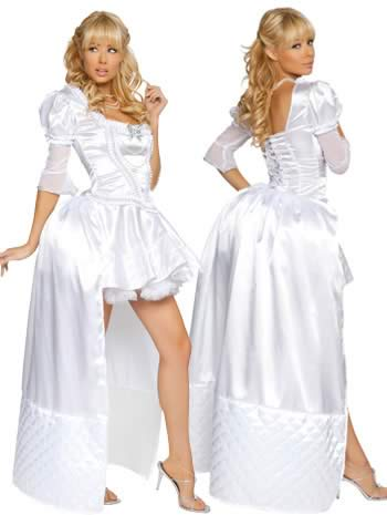 Noble Pure Fairy Tale White Queen Costume
