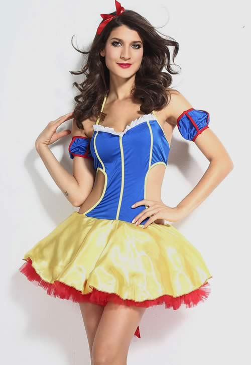 Fairytale Fantasy Snow White Halloween Costume for Girl