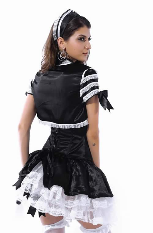 Girly Paris French Maid Halloween Costumes