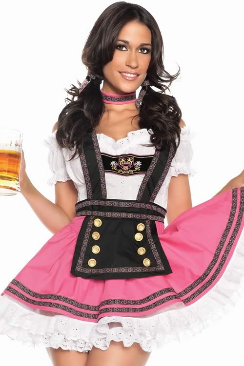 Cosplay Latest Halloween Beer Babe Costume