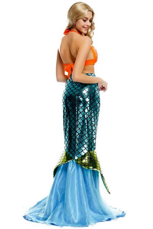 Womens Adult Sea Maid Mermaid Costume Princess Halloween Dress