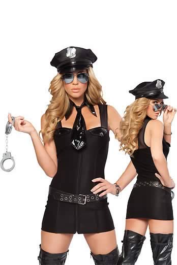 Cosplay Dream Black Police Costume for Women