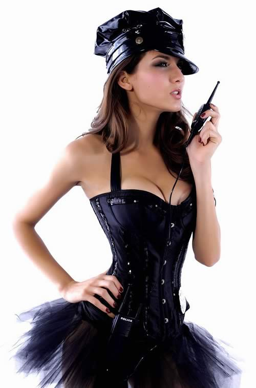 Cosplay Burlesque Cop Costume for Women