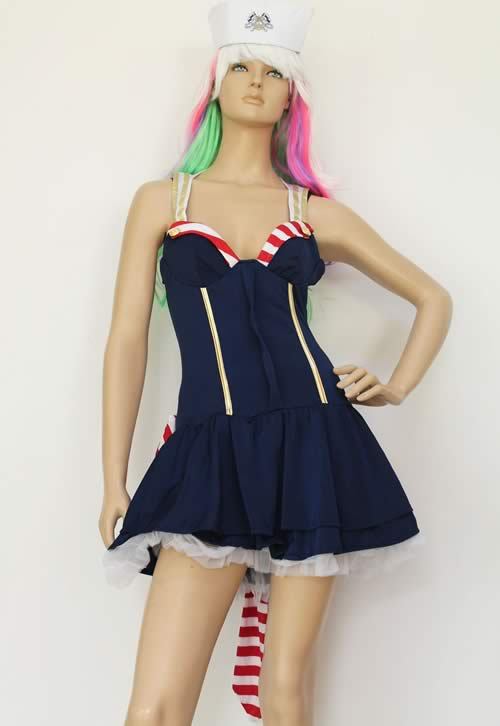 Women Pin up Body Shaper Sailor Costume