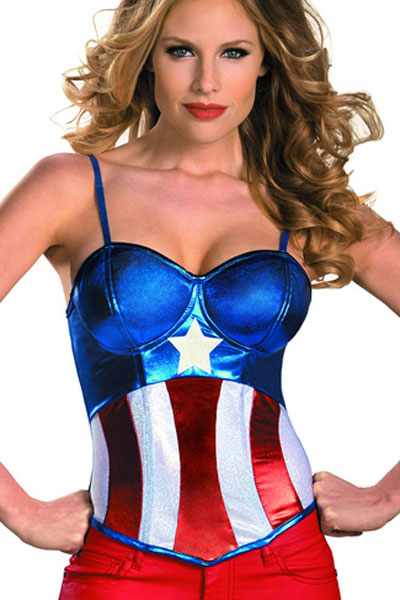 American Dream Girl Bustier Costume