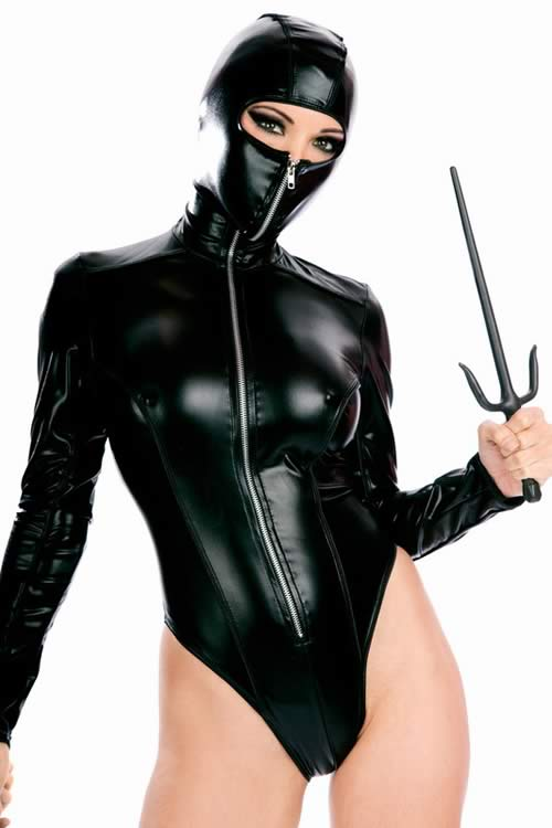 Hooded Ninja Superhero Costume for Women