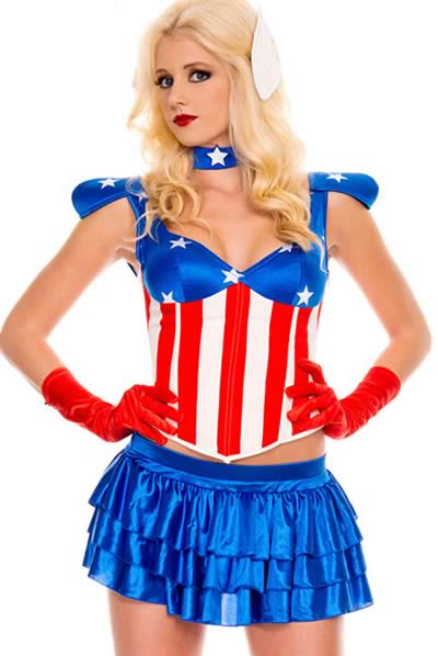 Fancy American Dream Girl Costume