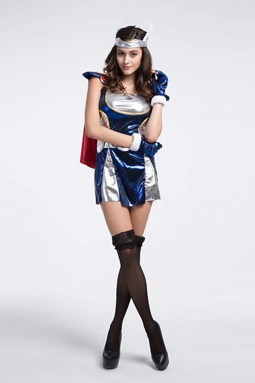 Halloween Sexy Women Thor Superhero Costume