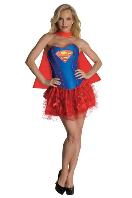 Cosplay Adult Women Supergirl Corset Costume