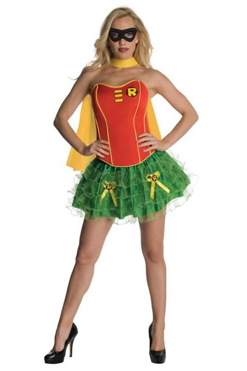 Flirty Adult Superhero Women Robin Costume