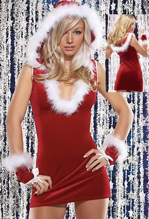 Holiday Happy Santa Christmas Costumes for Girl