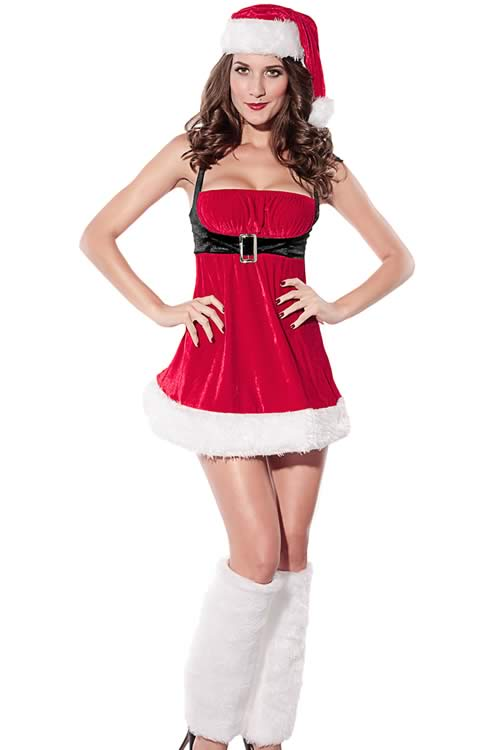 Women Santa Envy Christmas Costumes