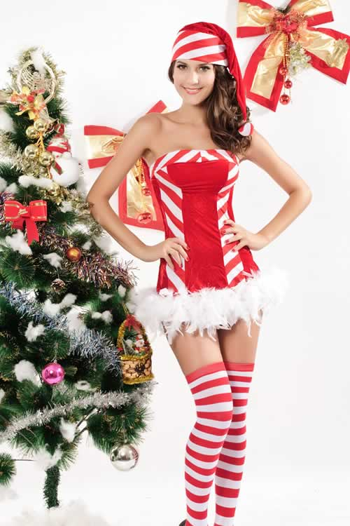 Santa Candy Christmas Costume for Women