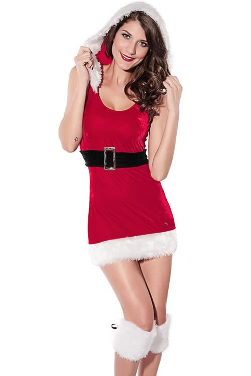 North Pole Babe Christmas Costume for Women