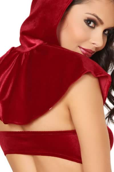 Christmas Story Book Hottie Velvet Costume in Red