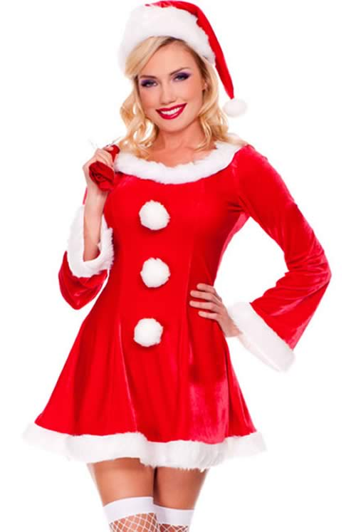 Festive Sleigh Belle Santa Costumes for Women