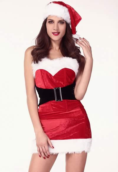 Cute Christmas Mistletoe Costumes for Women