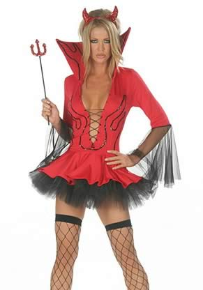 Red Lil Devil Halloween Costume for Women