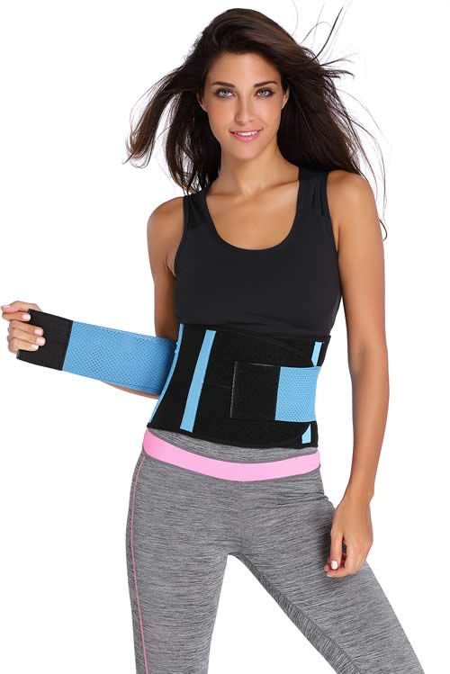 Blue Sweat Band Waist Training Belt