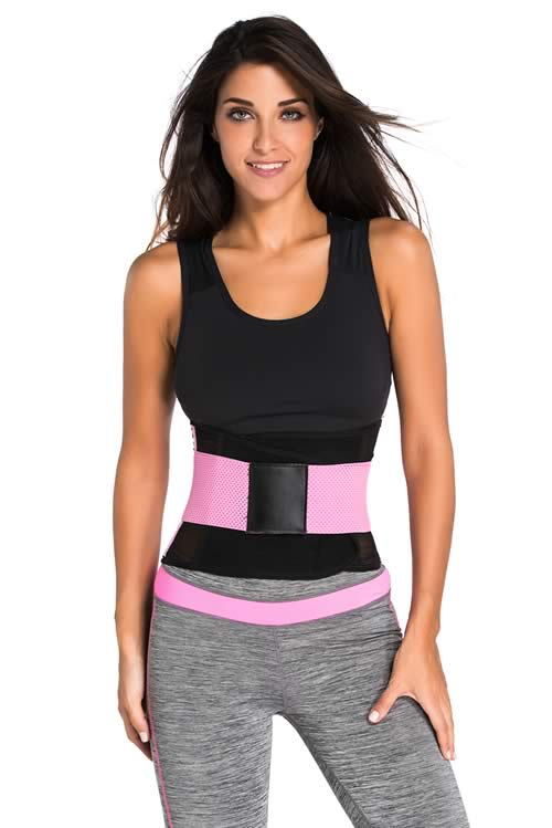 Pink Power Belt Fitness Waist Trainer Corset
