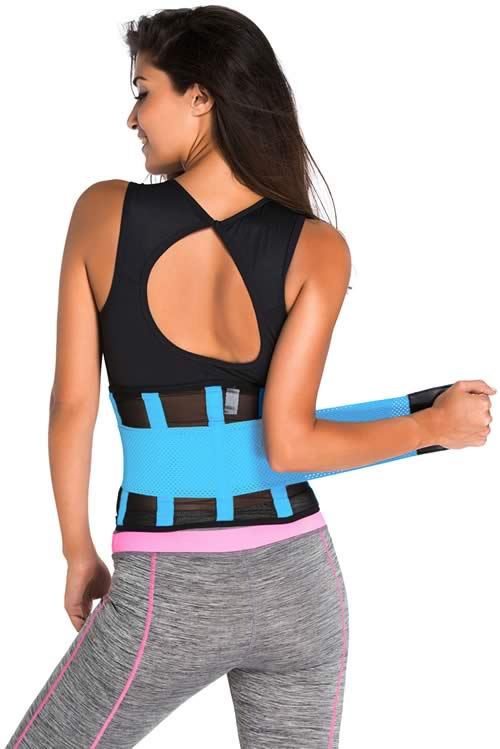Blue Power Belt Fitness Waist Trainer Corset