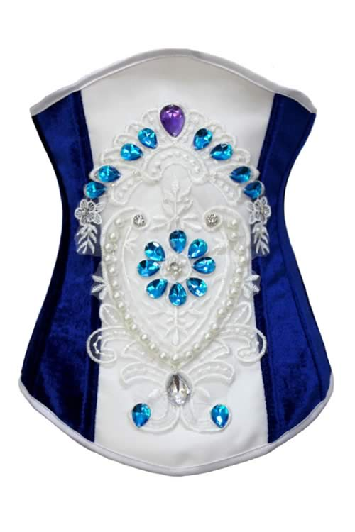 Luxury Sapphire Diamond Underbust Body Shaper Corset