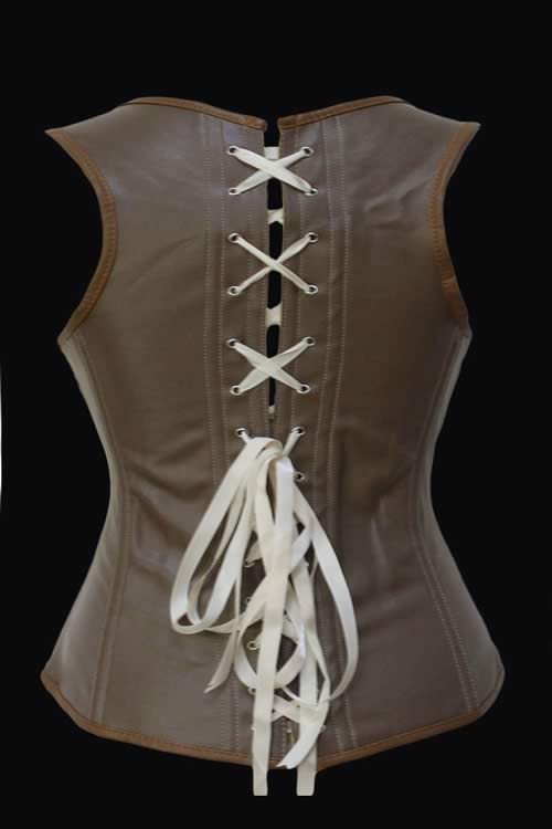 Luxury Steampunk Leather Clasp Waist Cincher Corset