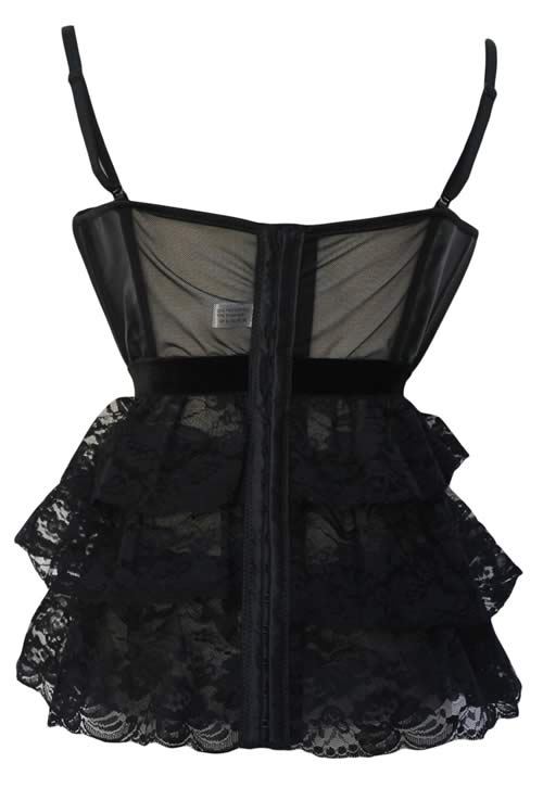 Black Lovely in Lace Waist Cincher Corset