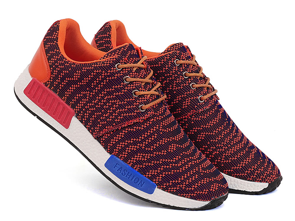 V17 Red Fringe 3D Fly Wire Mesh Breathable Men Tennis Shoes