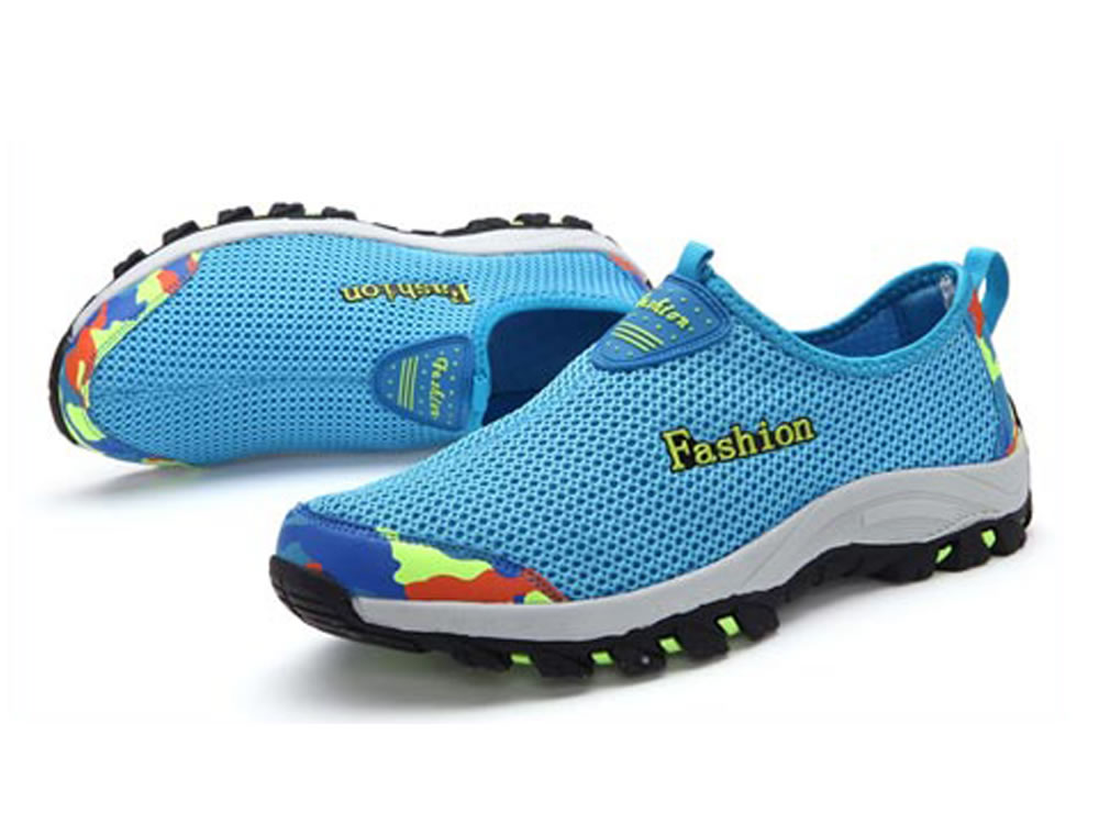 V17 Blue Honeycomb Mesh Breathable Vamp Men Tennis Shoes