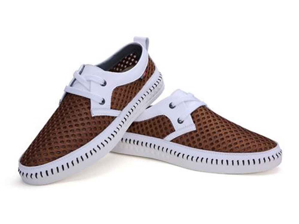 V17 Comfortable Men Leisure Skate Tennis Shoes in Brown