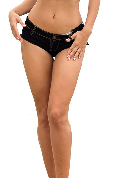 Black Sexy Womens Mini Short Jean Cut Off Low Rise Denim Shorts