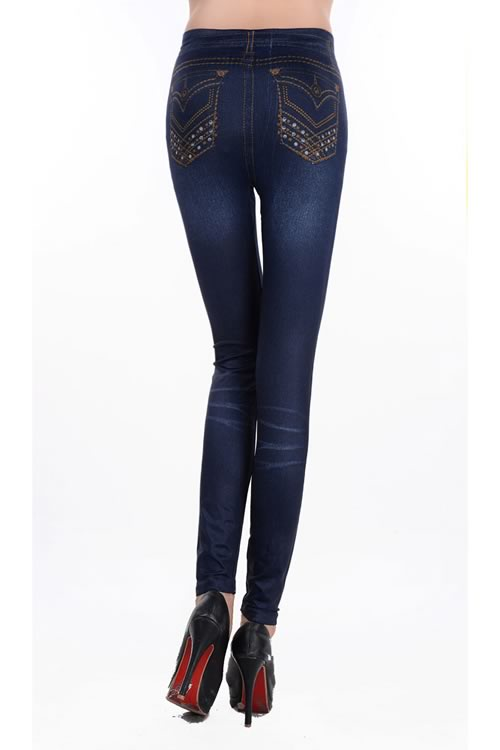 Blue Imitate Cowboy Leggings Pants for Sale