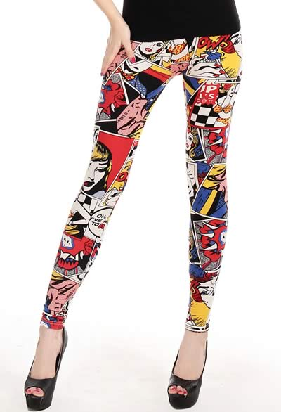 Cheap Young Girl Printed Leggings Pants for Sale