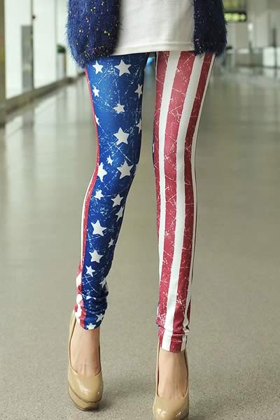 Stars and Stripes American Flag Print Leggings